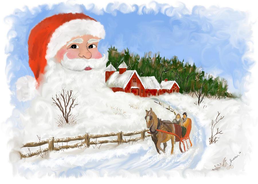 Christmas Painting - Santas Beard by Susan Kinney
