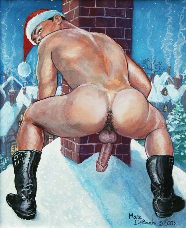 Santa's Chimney by Marc  DeBauch