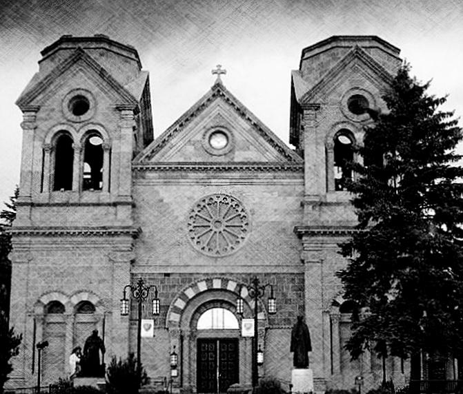 Sante Fe Photograph - Sante Fe Cathedral by Becky Kurth
