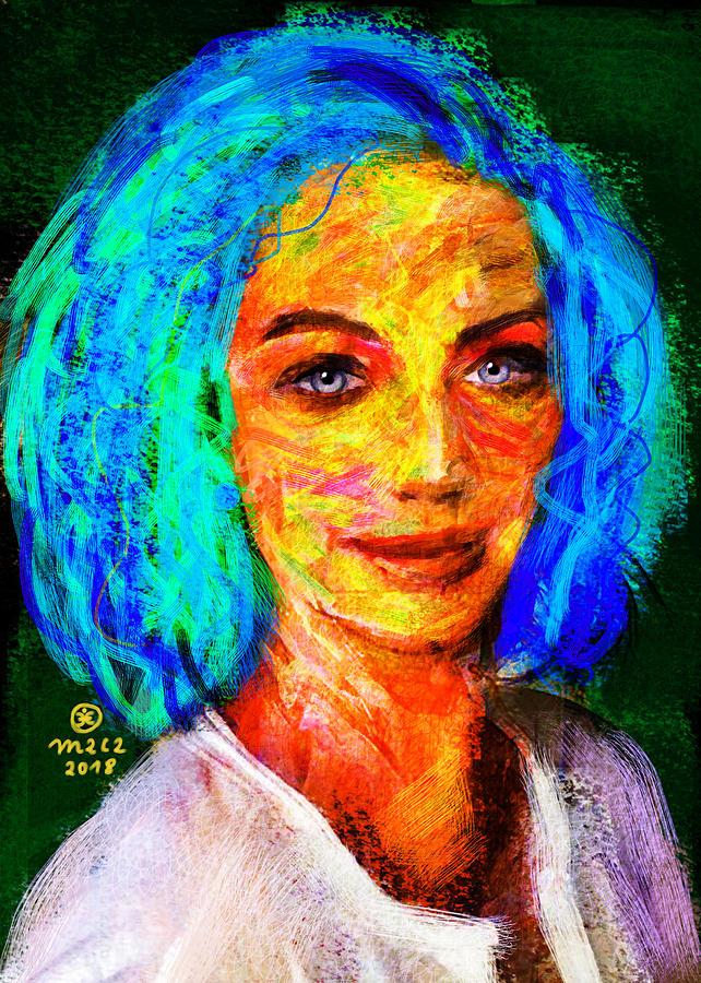Woman Painting - Santia True Colors 673 by Maciej Mackiewicz