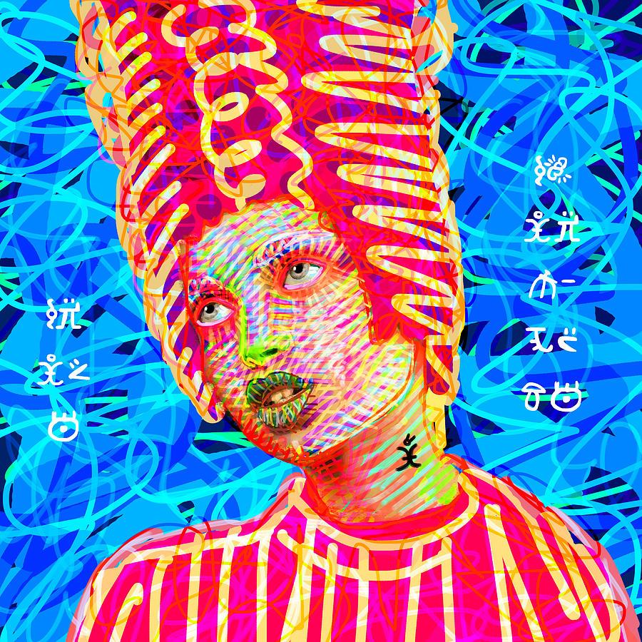 Woman Painting - Santia True Story 980 by Maciej Mackiewicz