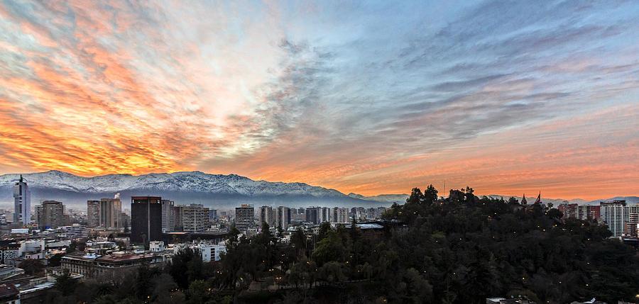 Chile Photograph - Santiago, Chile Sunrise by Bryan Toro