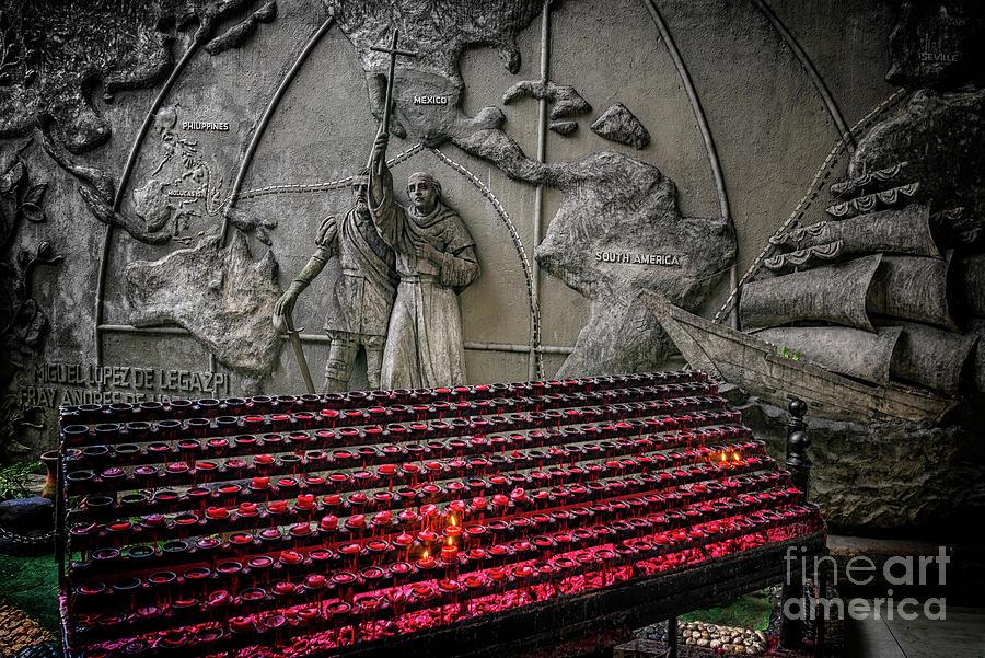 Catholic Photograph - Santo Nino Candles by Adrian Evans