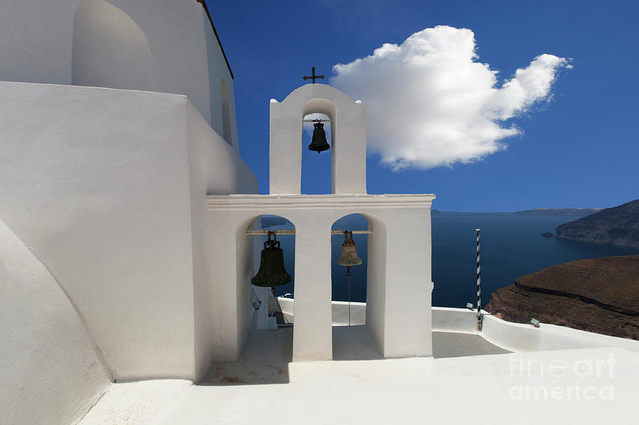 Greece Photograph - Santorini by Bob Christopher