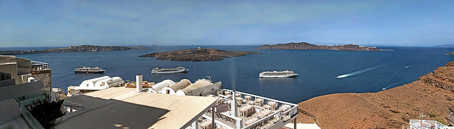 Santorini Caldera by S Paul Sahm