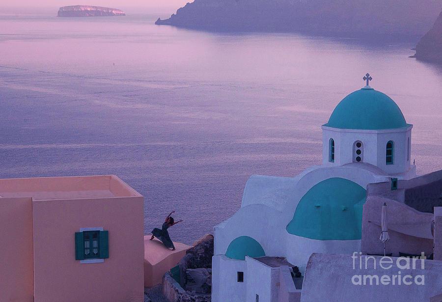 Dance Photograph - Santorini Dancer by Jim Wright
