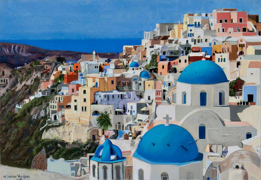 Santorini Painting - Santorini by Mary Susan Vaughn