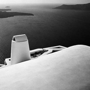 Landscape Photograph - Santorini Rooftop by Troy Ziel