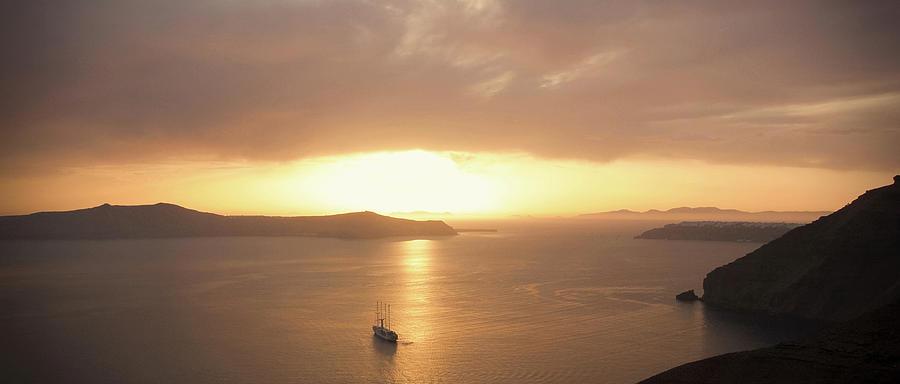 Beautiful Photograph - Santorini, Sunset by Kayode Fashola