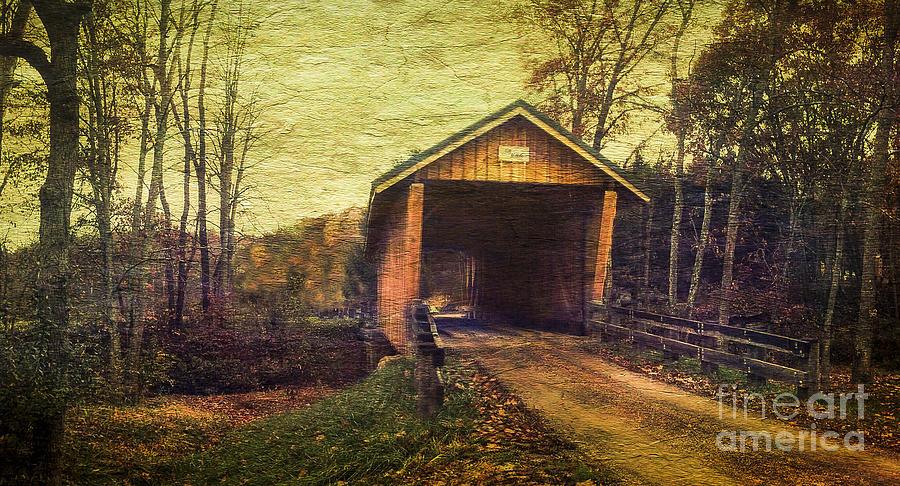 Covered Bridge Photograph - Santoy Covered Bridge #35-58-38 Morgan County Ohio by Robert Gardner