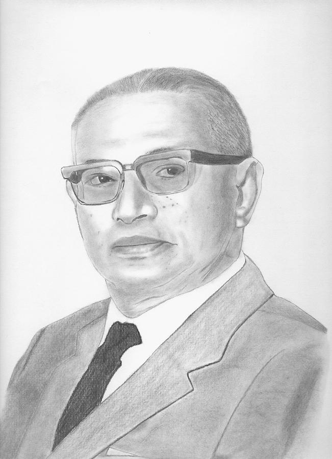 Realistic Drawing - Sanya Dhammasak by Kanase Hangputjaikarn