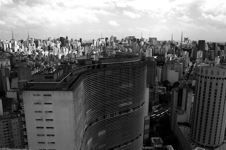 City Skyline Photograph - Sao Paulo by Pedro Fredo