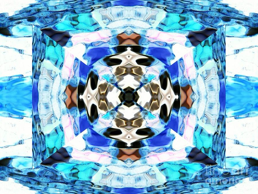 Abstract Digital Art - Saphire by Lorles Lifestyles