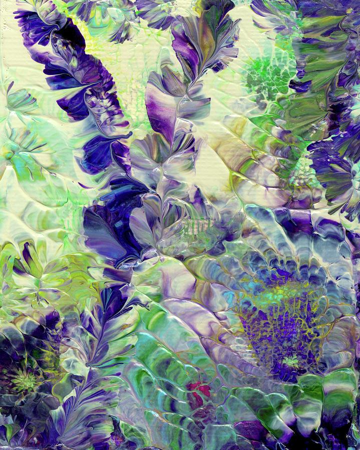 Modern Painting - Sapphire Violet by Nan Bilden
