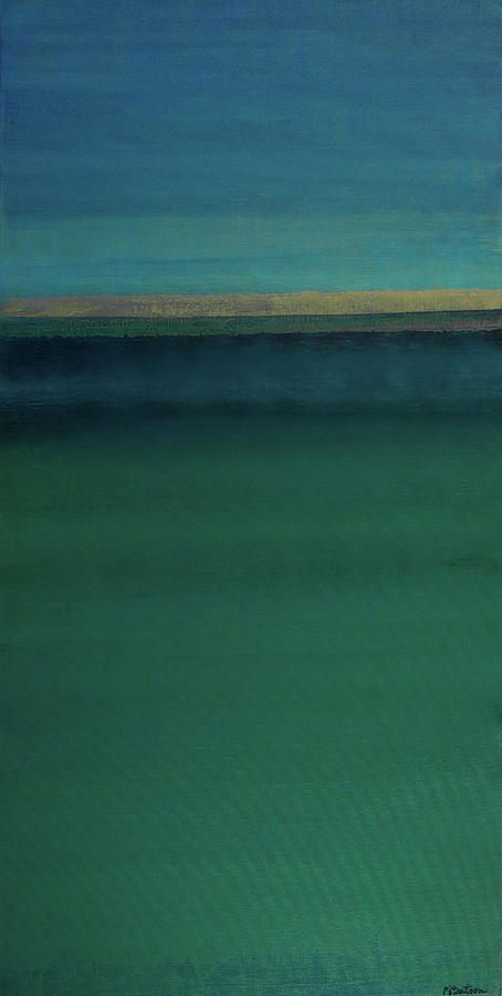 Ocean Painting - Sapphires And Emeralds by K Batson Art