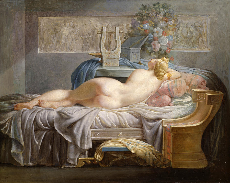 Sappho painting by jean laurent rieth