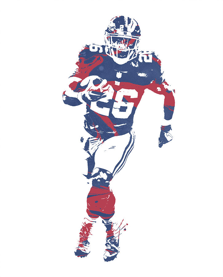 3f3416706de Giants Mixed Media - Saquon Barkley New York Giants Pixel Art 3 by Joe  Hamilton