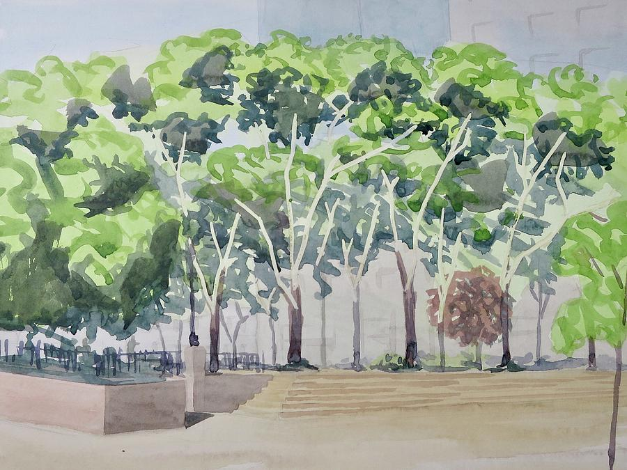 Watercolor Painting - Sara D Roosevelt Park  by Bethany Lee