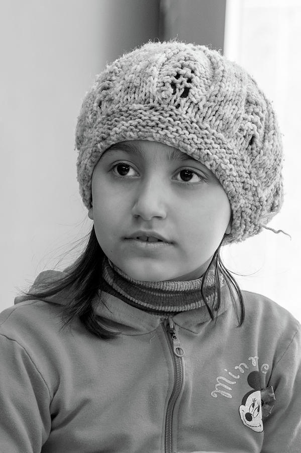 Syrian Refugee Child Photograph - Sara by Tina Manley