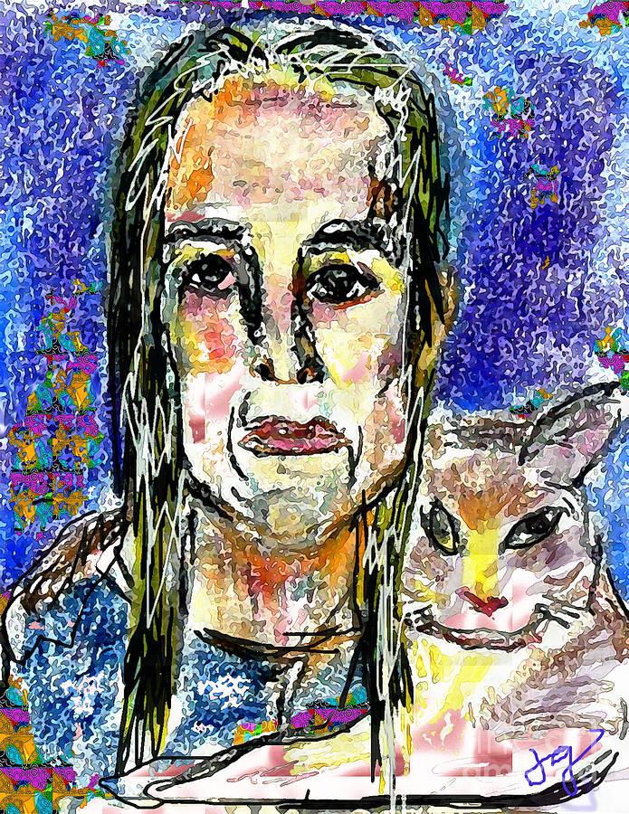 Woman Mixed Media - Sarah And Shai by Joyce Goldin