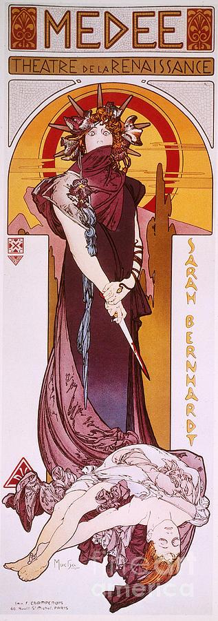 1898 Photograph - Sarah Bernhardt by Granger
