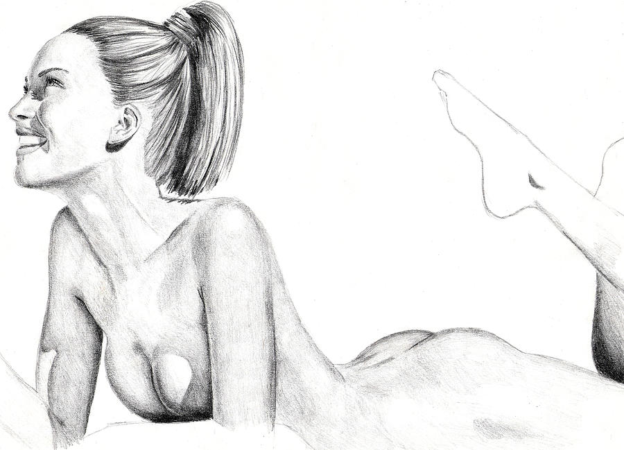 Nude Drawings Drawing - Sarah by Michael McKenzie