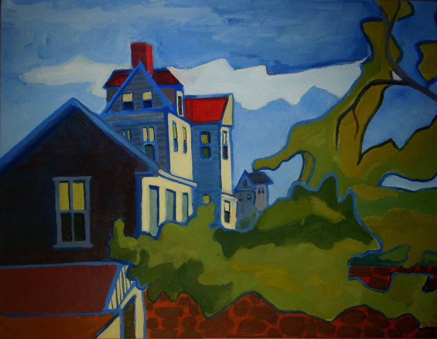 Buildings Painting - Sarah Paul by Debra Bretton Robinson