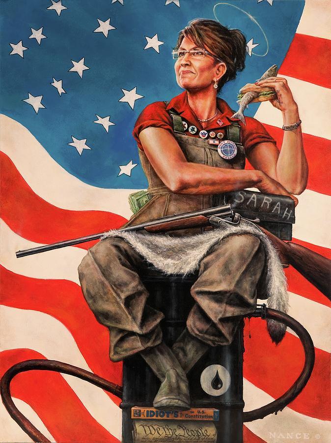 America Painting - Sarah The Savior by Dan  Nance