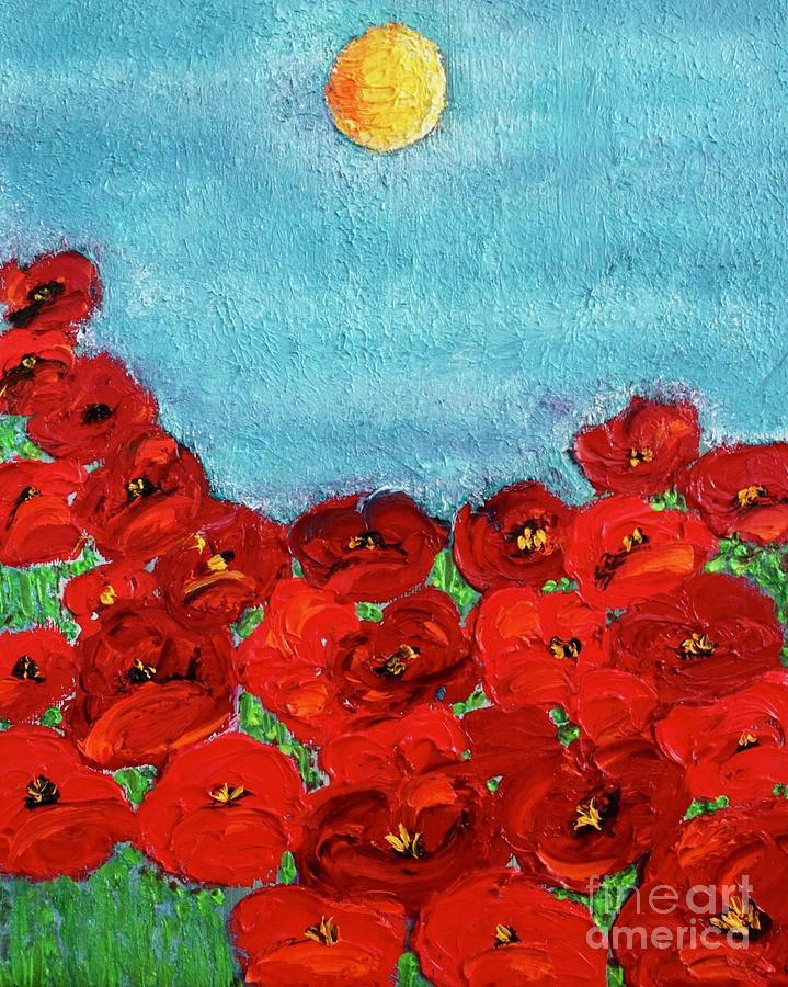 Poppies Painting - Sarahs Poppies by Kim Nelson