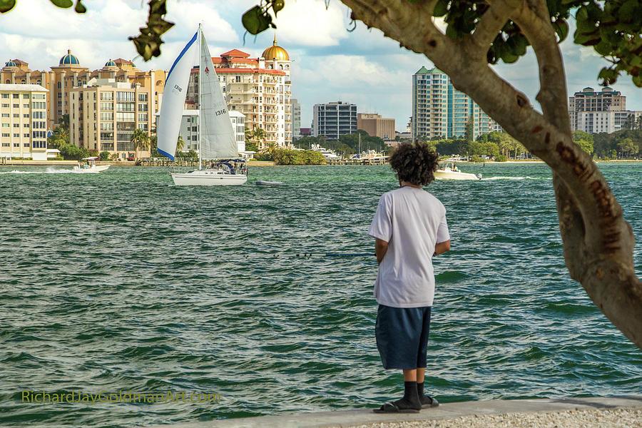 Fishing Photograph - Sarasota Bay Fisherman by Richard Goldman