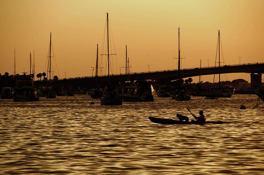 Water Photograph - Sarasota Bay Sunset #1 by Jonathan Sabin