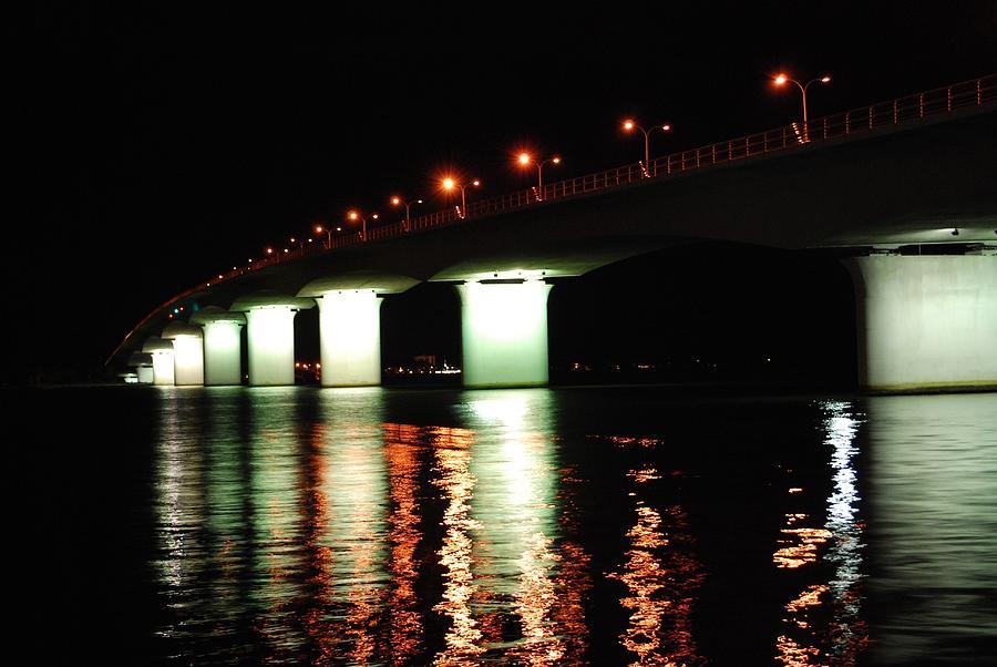 Sarasota Photograph - Sarasota Longboat Key Bridge by Amanda Vouglas
