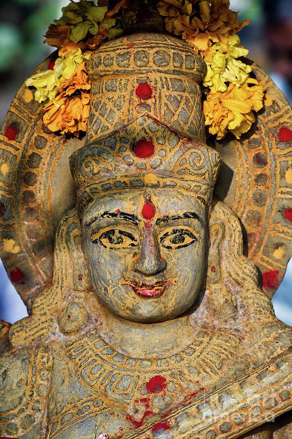 Saraswati Photograph - Saraswathi Statue In Morning Light by Tim Gainey