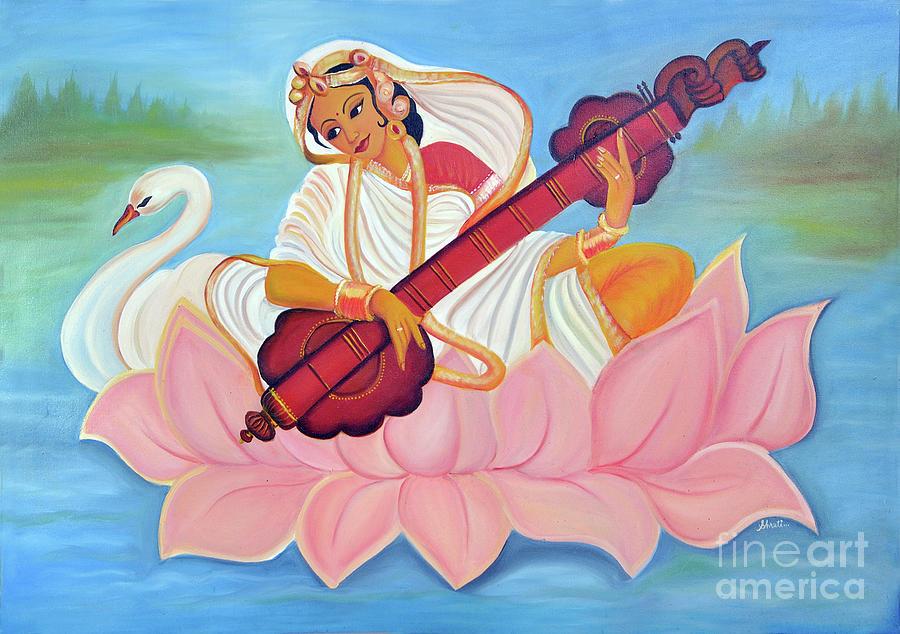 Saraswati Painting - Saraswati by Shruti Prasad