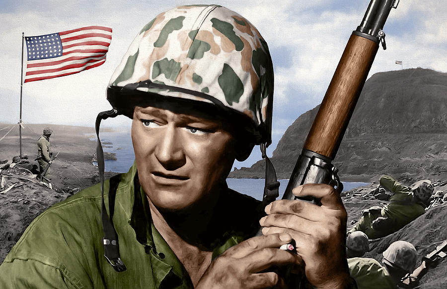 John Wayne Digital Art - Sargent Stryker U S M C  Iwo Jima by Daniel Hagerman