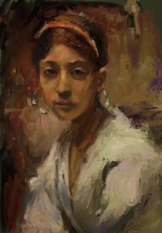 Study Digital Art - Sargent Study Number 1 Capri Girl by Brian Kardell