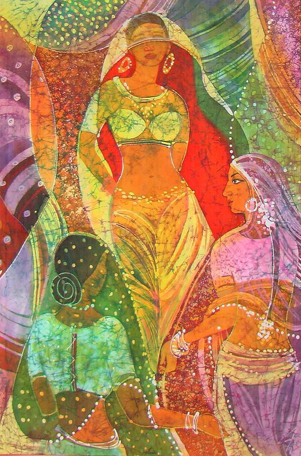 Impressionism Painting - sari by Chagorova Tanja