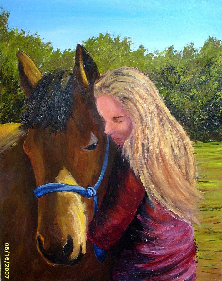 Sasha And Chelsea Painting by Tami Booher