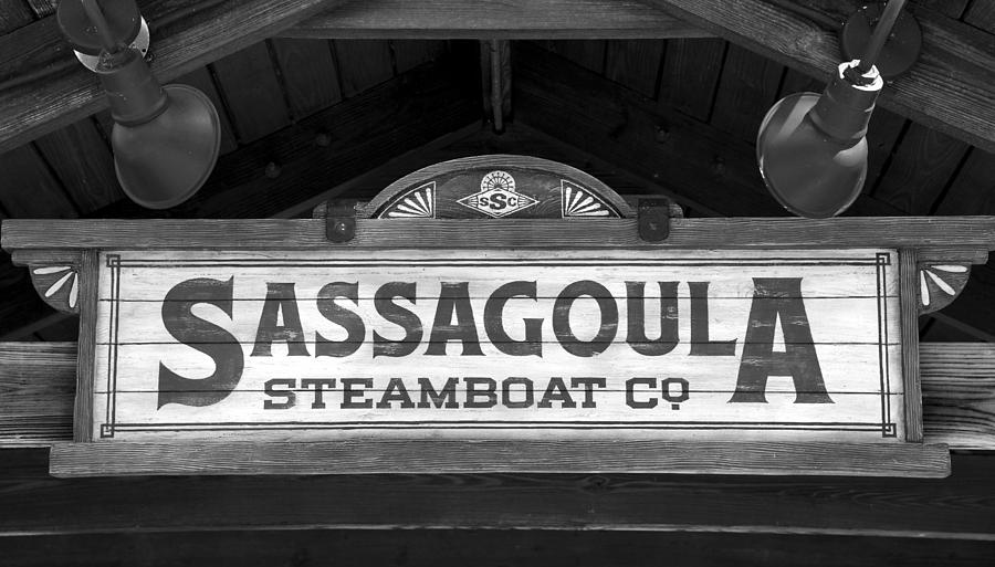 Old Photograph - Sassagoula Steamboat Company Sign by David Lee Thompson