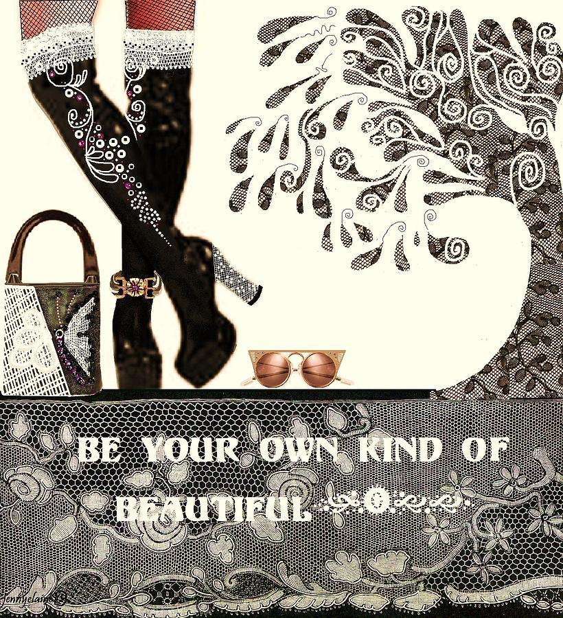 Beautiful Digital Art - Sassy Boots  II by Jenny Elaine