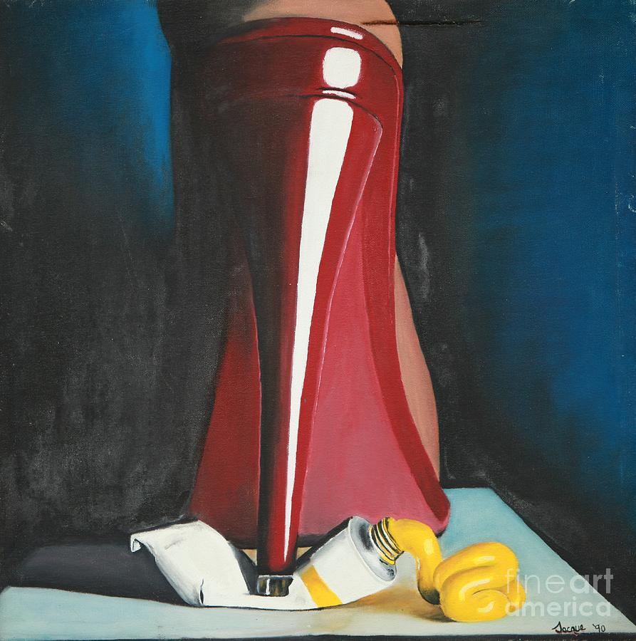 Shoe Painting - Sassy Shoe by Jacqueline Athmann