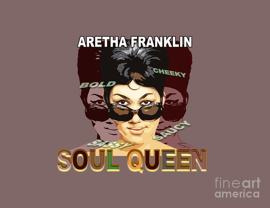 Sassy Soul Queen Aretha Franklin by Reggie Duffie