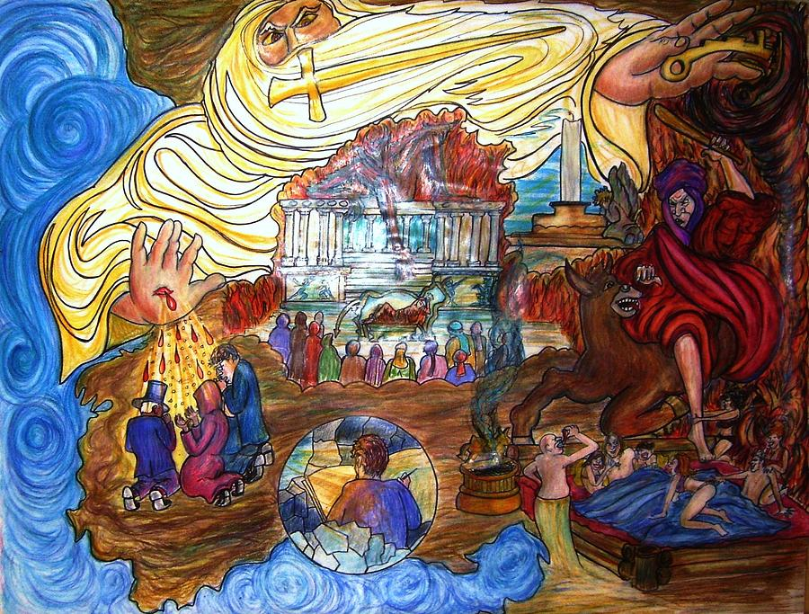 Jesus Drawing - Satans Throne by Richard  Hubal