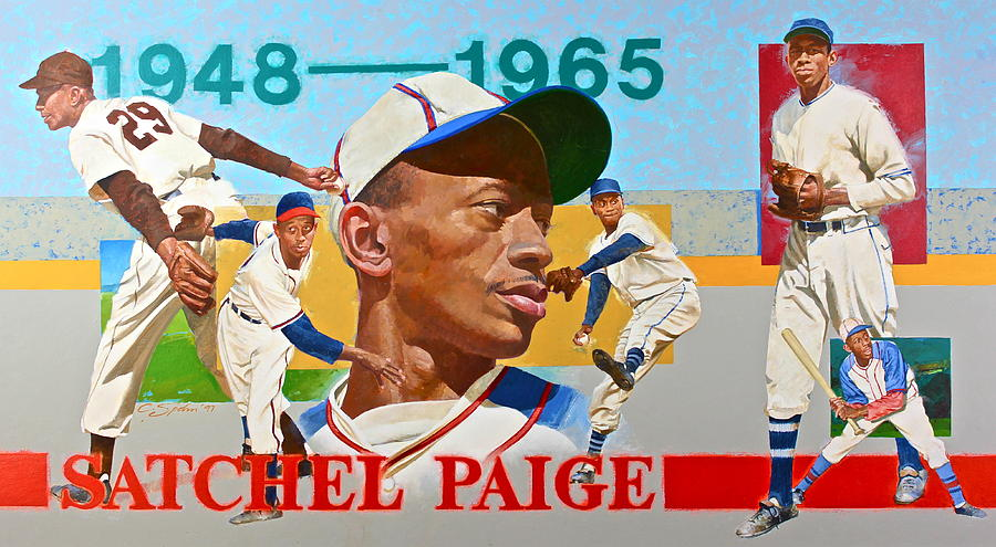 Acrylic Painting - Satchel Paige by Cliff Spohn