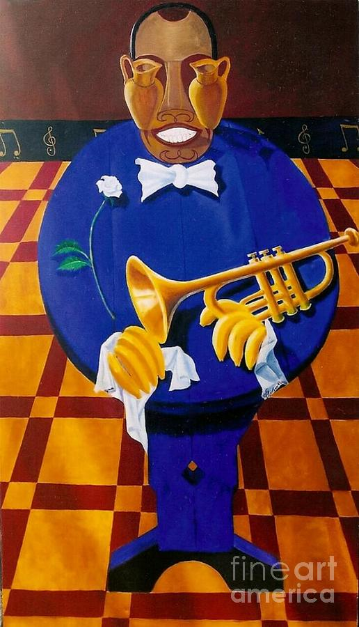 Satchmo Painting by David G Wilson