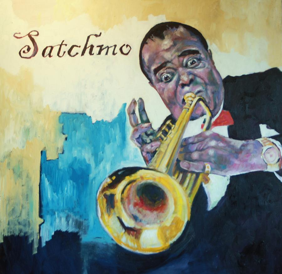 Satchmo Painting by Kevin McKrell