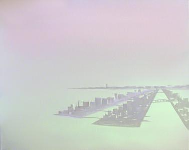 Satellite City Painting by Wanda Koop
