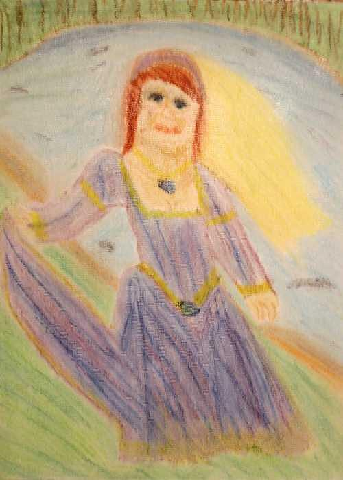 Satine Drawing by Annie Dameron