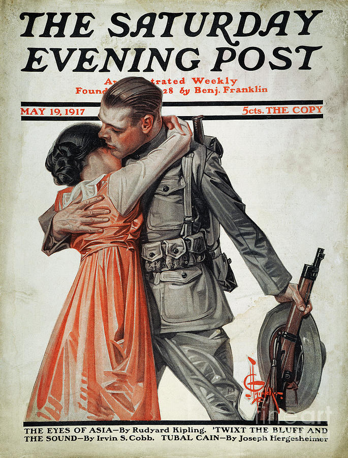 1917 Photograph - Saturday Evening Post by Granger