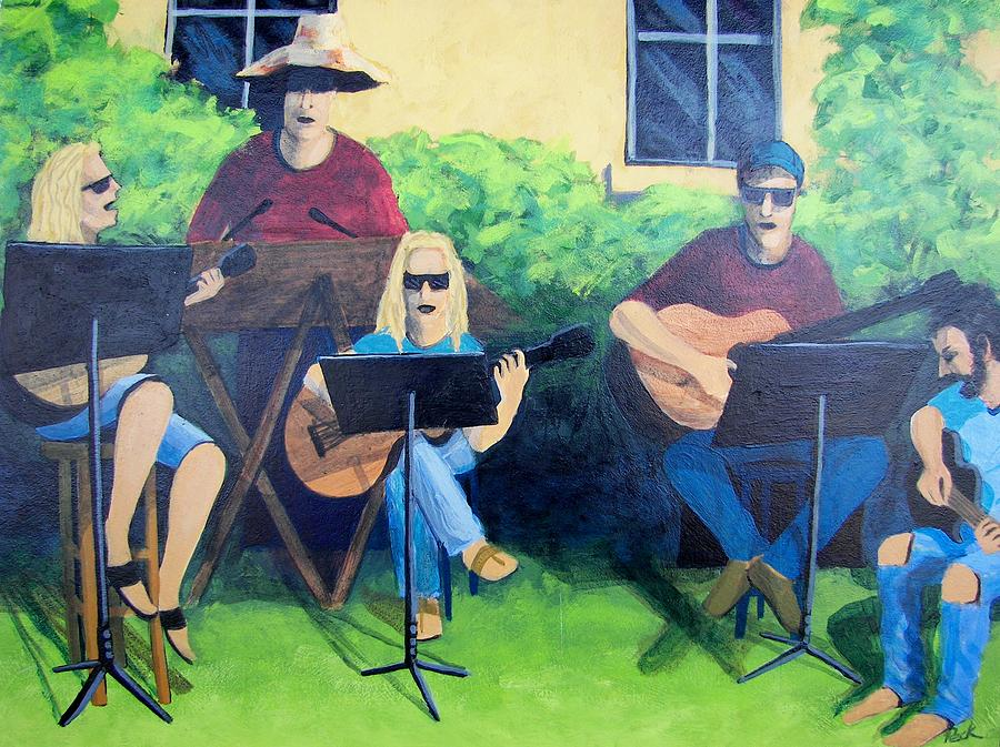 Acoustic Music Painting - Saturday Morning by Charles Peck